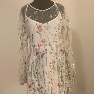Boohoo Plus Off-White Dress | US Sz. 20